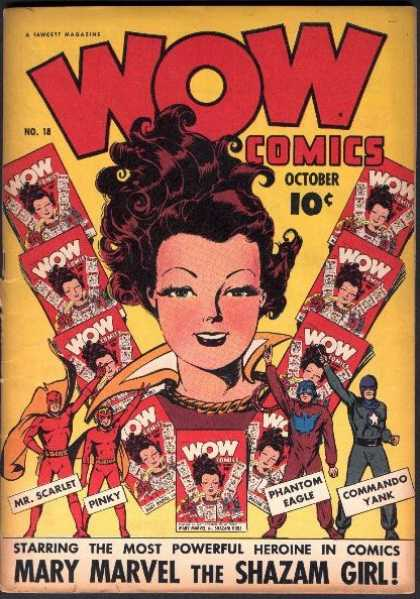 Wow Comics 18 - Woman - Superhero - Men - Magazines - Red