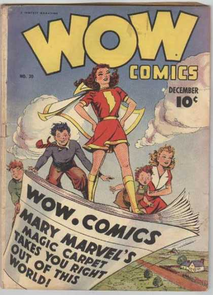 Wow Comics 20 - December - Yellow Boots - No 30 - Mary Marvel - Yellow Lightning Bolt
