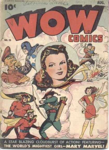 Wow Comics 28 - 10 Cents - Captain America - August - Woman - Fawcett