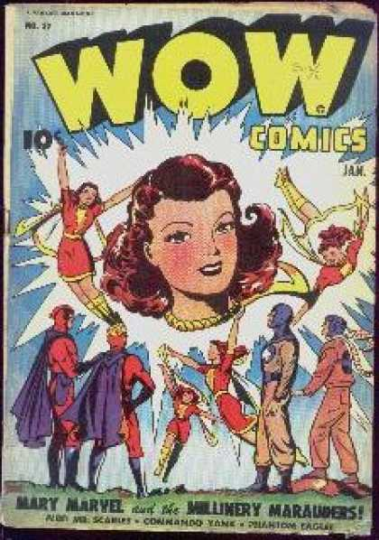 Wow Comics 32 - Redhead - January - 10 Cents - Female - Superhero
