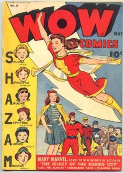 Wow Comics 36 - Mary Marvel - Selena - Hippolyta - Cape - Aurora