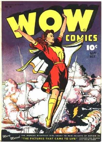 Wow Comics 38 - Sept-oct - Mary Marud - Clauds - The Pictures Came To Life - Woman