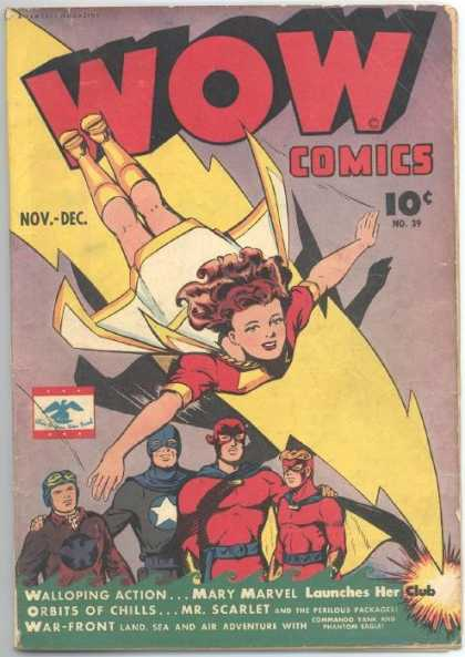 Wow Comics 39 - Mary Marvel - Action - Chills - Launches - Adventure