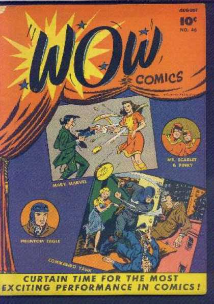 Wow Comics 46 - Mary Marvel - Pinky - Mr Scarlet - Phantom Eagle - Commando Tank