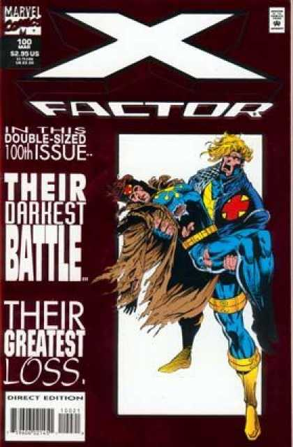 X-Factor 100 - Marvel Comics - Approved By The Comics Code - Mutant - Their Darkest Battle - Their Greatest Loss - Jan Duursema
