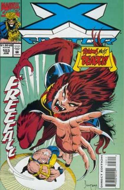 X-Factor 103 - Marvel - Fangs - Beast - Claws - Freefall - Jan Duursema