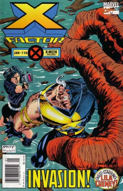 X-Factor 110 - Jan 110 - X-men Deluxe - Invasion - Lila Cheney - Gun - Steve Epting