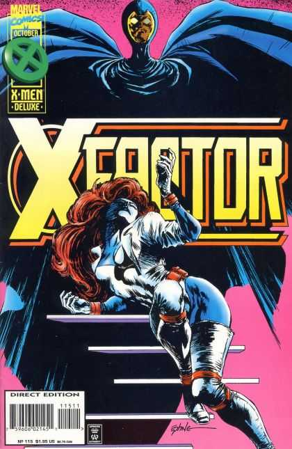 X-Factor 115 - Blue Cape - Pink Top - Steps - Ladder - Staircase - Steve Epting