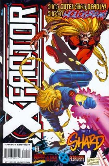 X-Factor 119 - Shes Shard - Shes Cute Shes Deadly - Shes A Hologram - X Men - Direct Edition - John Dell, Steve Epting
