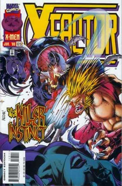 X-Factor 123 - Mutant - Sabertooth - Healing Factor - Alien - Hand To Hand Combat