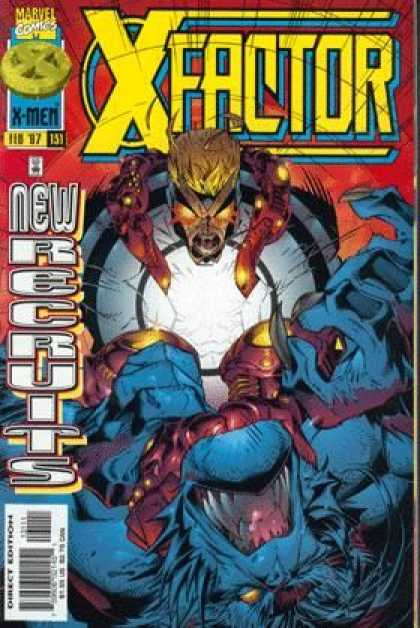 X-Factor 131 - Marvel Comics - New Recruits - X-men - Beast - Fighting