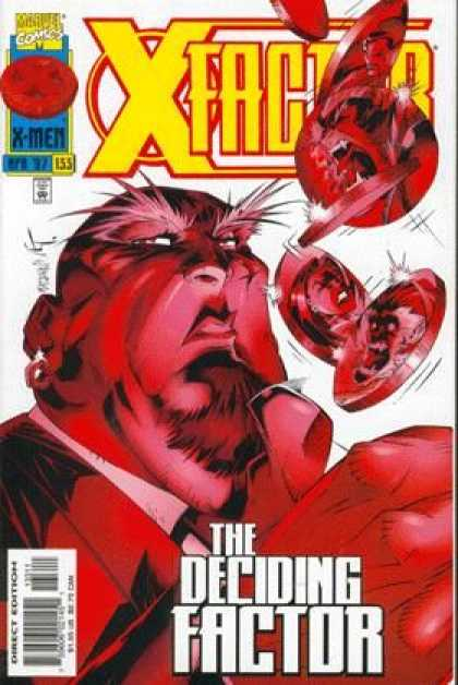 X-Factor 133 - The Deciding Factor - Red Face - Big Eyebrows - X-men - Beard
