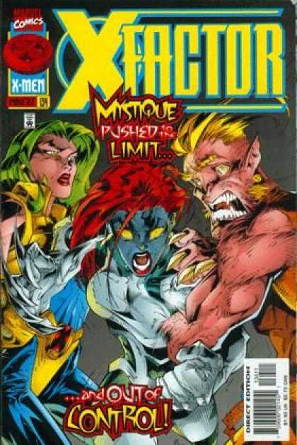 X-Factor 134 - X-men - Marvel Comics - Mystique Pushed To The Limit - And Out Of Control - Direct Edition