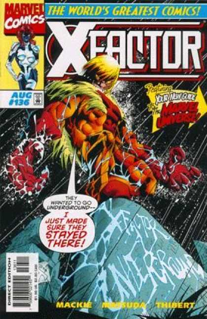 X-Factor 136 - Underground - Aug - Comics - Rock - Thibert