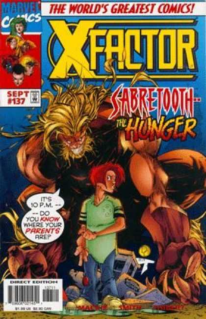 X-Factor 137 - Marvel - September - Sabretooth The Hunger - Redhead - Speech Bubble - Duncan Rouleau