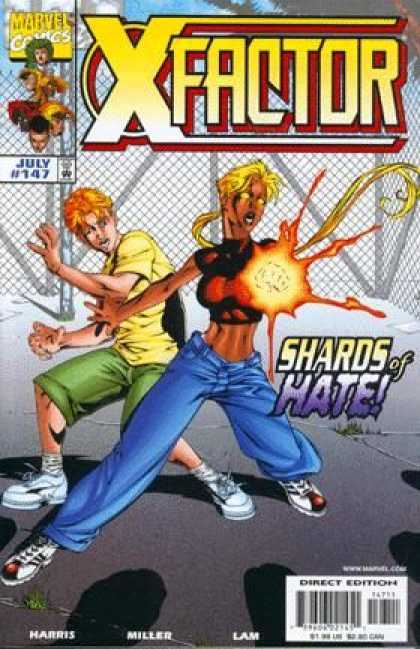X-Factor 147 - Shards Of Hate - Fence - Young Boy - Female Mutant - Blue Jeans - Mike Miller