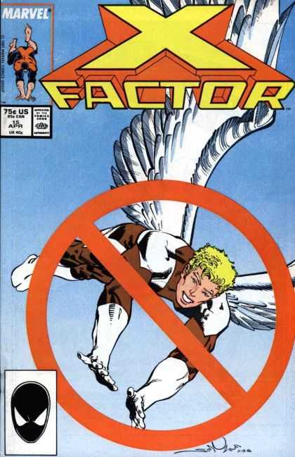 X-Factor 15 - Wings - Fly - No - Whtie - Sky - Walter Simonson