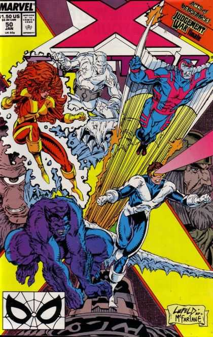 X-Factor 50 - Archangel - Ice Man - Cyclops - Beast - Jean Grey - Rob Liefeld, Todd McFarlane