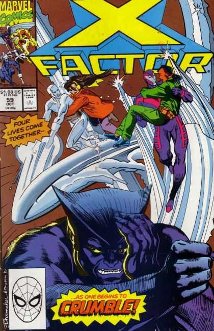 X-Factor 59 - X Men - Arch Angel - Spiderman - The Beast - Marvel - Terry Shoemaker