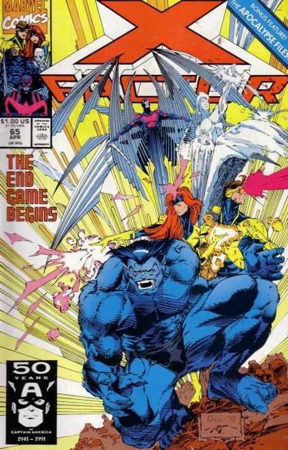 X-Factor 65 - Beast - Iceman - Cyclops - Jean Grey - The Apocalypse Files - Whilce Portacio