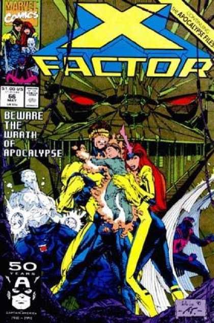 X-Factor 66 - Red Eyes - Superhero - Resquing - Superwoman - Mutants - Whilce Portacio