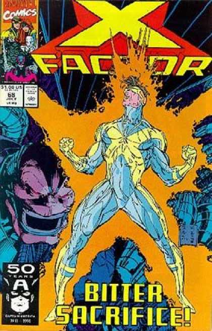 X-Factor 68 - 68 - Bitter Sacrifice - Electricity - Man - Superhero - Whilce Portacio