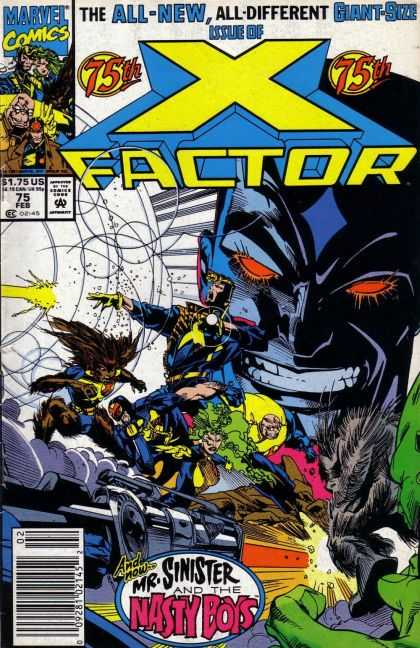 X-Factor 75 - Marvel Comics - 75th - Feb - Giant-sized Issue - Mr Sinister And The Nasty Boys - Larry Stroman