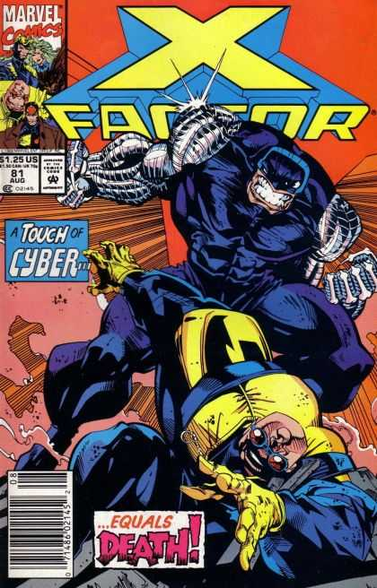 X-Factor 81 - Marvel Comics - Cyber - Mutant - Superhero - Equals Death - Larry Stroman