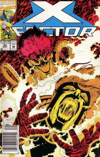 X-Factor 82 - Marvel - In The Hand - Ghost - Created - Fire - Joe Quesada