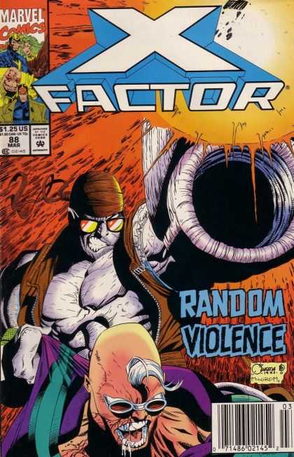X-Factor 88 - Random Violence - Glasses - Evil Face - Men - Drool - Joe Quesada
