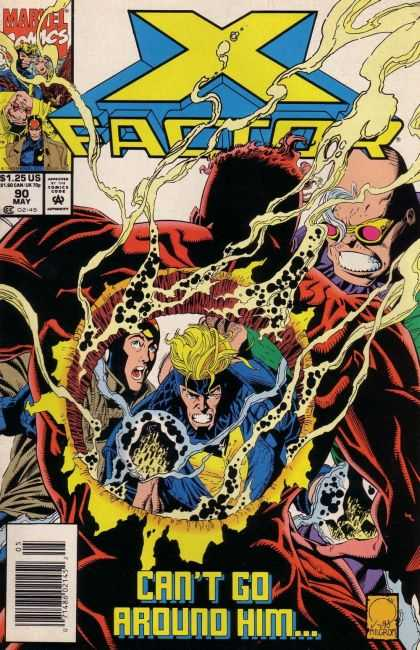 X-Factor 90 - Cant Go Around Him - Issue Number 90 - May Issue - 125 Per Issue - Monster With Hole In Chest - Joe Quesada
