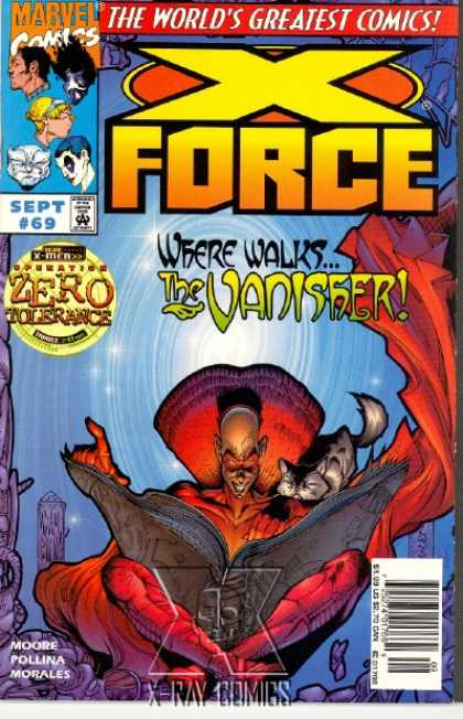 X-Force 69 - The Worlds Greatest Comics - Where Walks The Vanisher - Sept 69 - Cat - Big Book - Mark Morales