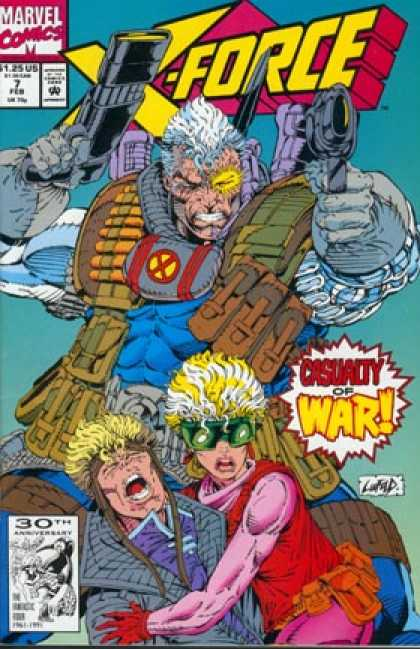 X-Force 7 - Guns - Cable - Casualty Of War - Clayton Crain, Rob Liefeld