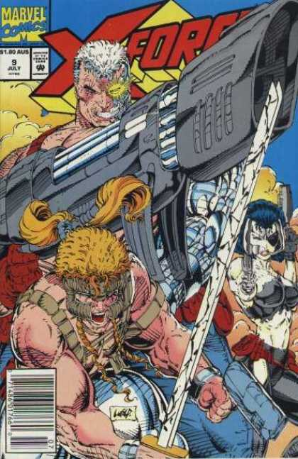 X-Force 9 - Cable - Approved By The Comics Code Authority - Marvel Comics - 9 July - Gun - Rob Liefeld