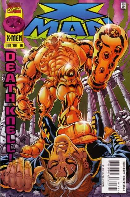 X-Man 16 - Marvel Comics - Death Knell - Jun 96 - Robot - Direct Edition - Bud LaRosa