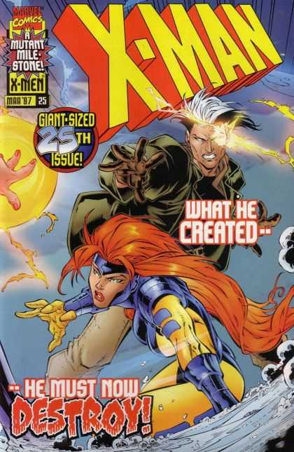 X-Man 25 - Mutant - D-men - Nate Grey - Fighting - Bud LaRosa