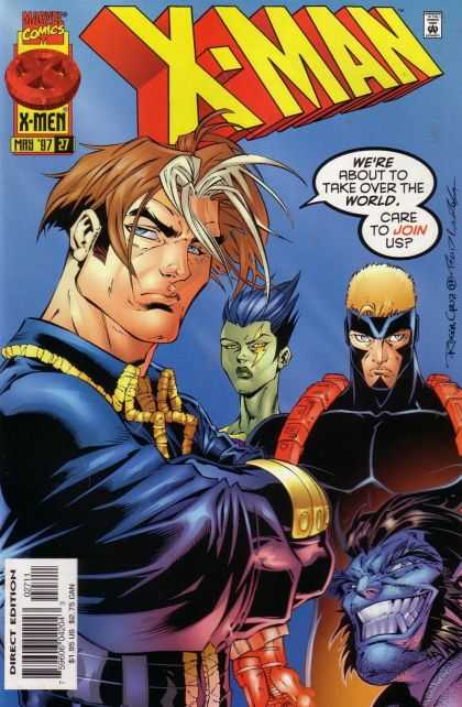 X-Man 27 - Take Over The World - 4 Persons - Blue Hair - Blue Face - Masked Man - Bud LaRosa