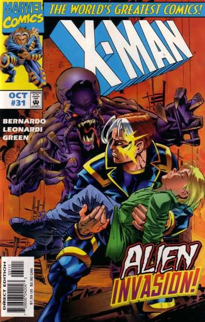 X-Man 31 - Marvel - Superhero - Alien - Child - Green - Rick Leonardi