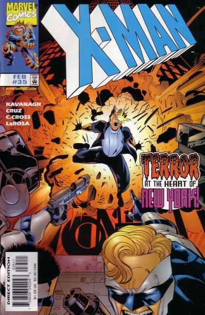 X-Man 35 - New York - Gun - Black Suit - Kavanagh - X-man - Bud LaRosa