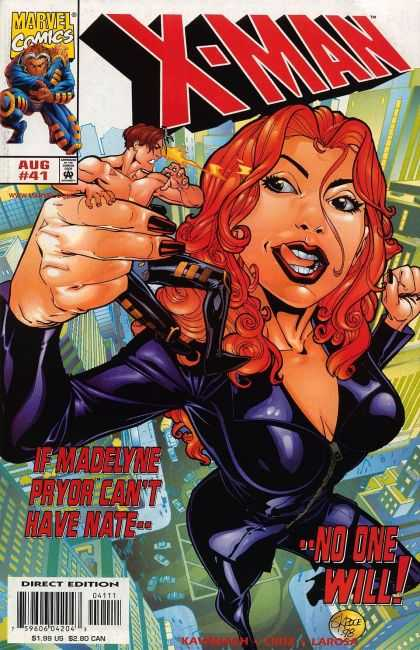 X-Man 41 - Madelyne Pryor - Nate - Giant Woman - Red Hair - Leather
