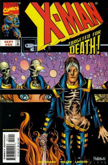 X-Man 55 - Marvel - Skeletons - Costume - Blue Eyes - Targeted For Death
