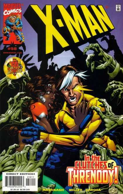 X-Man 58 - Marvel - Hands - Black Girl - Yellow Eye - Number 58 - Mike Miller