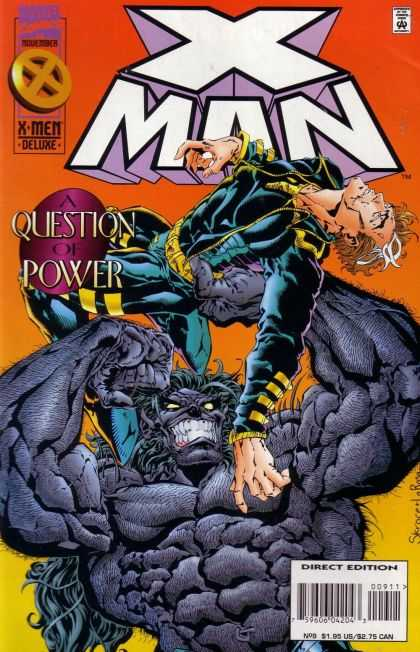 X-Man 9 - Deluxe - Mutant - Qustion Of Power - Direct Edition - Marvel Comics - Bud LaRosa