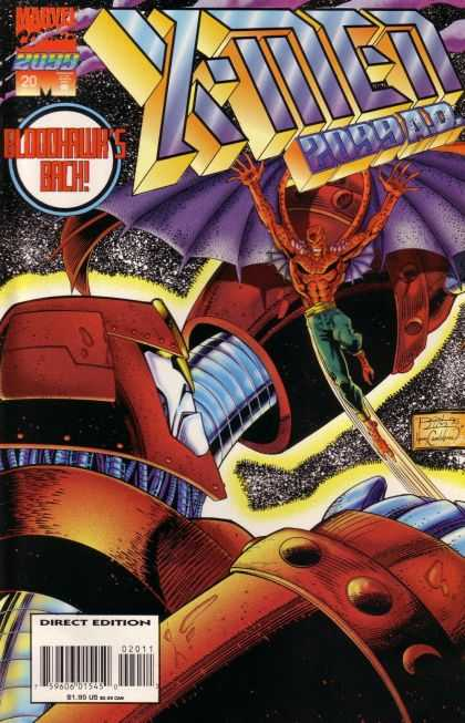 X-Men 2099 20 - Red Devil - Red Robot - Purple Wings - Green Pants - Xmen - Ron Lim, Tom Smith