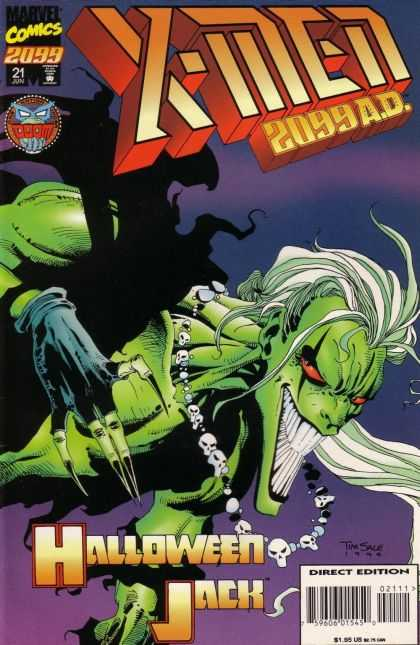 X-Men 2099 21 - Marvel Comics - Monster - Shadow - Halloween Jack - Direct Edition - Tim Sale