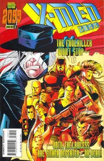 X-Men 2099 33 - Cap - Direct Edition - The Foolkiller Wont Stop - Defeated - Dead - Jan Duursema, Tom Smith