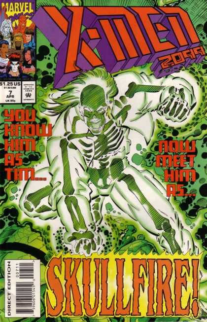 X-Men 2099 7 - Skullfire - Skeleton - Direct Edition - Marvel - You Know Him As Tim - Jimmy Palmiotti, Ron Lim