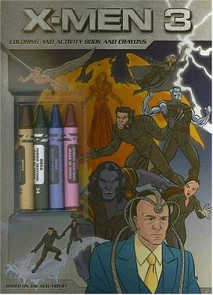 X-Men Books - X-Men: The Last Stand: Coloring and Activity Book and Crayons
