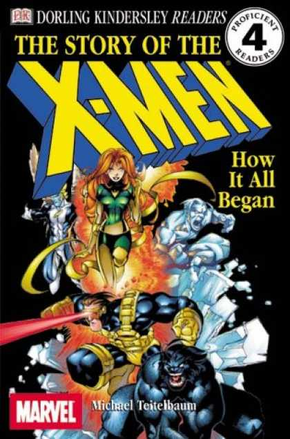 X-Men Books - DK Readers: The Story of the X-Men, How It All Began (Level 4: Proficient Reader