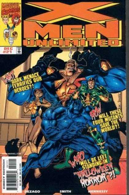 X-Men Unlimited 21 - Menace - Heroes - Mutants - Halloween Horror - Save The World - Andy Smith